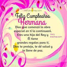 Quien cumple años hoy? hola hermana muchas felicidades , Dios te bendiga siempre te quiero mucho.