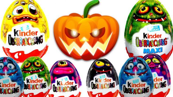 Halloween Huevos Kinder Sorpresa - surprice eggs hallowen