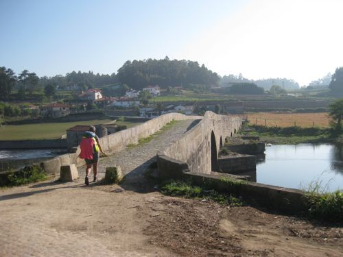 Camino Portugues blog and stages! crossing-bridge