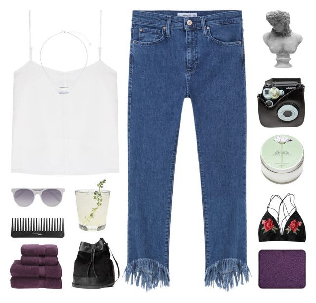 """""""DON'T PICK UP THE PHONE"""" by constellation-s ❤ liked on Polyvore featuring T By Alexander Wang, MANGO, shu uemura, Sephora Collection, Christy, Miss Selfridge, Polaroid, Prism, Visionnaire and H&M"""