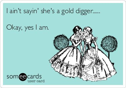 I aint sayin shes a gold digger...... Okay, yes I am.