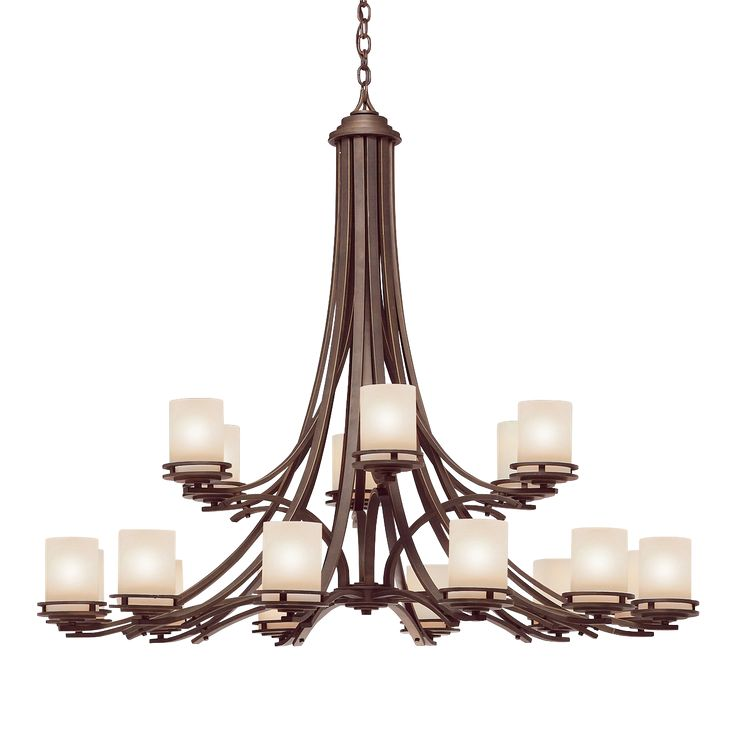 Transitional 18 light Chandelier in Olde Bronze - Hendrik
