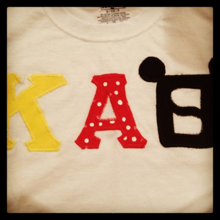 mickey mouse tee shirt kappa alpha theta letters sorority craft