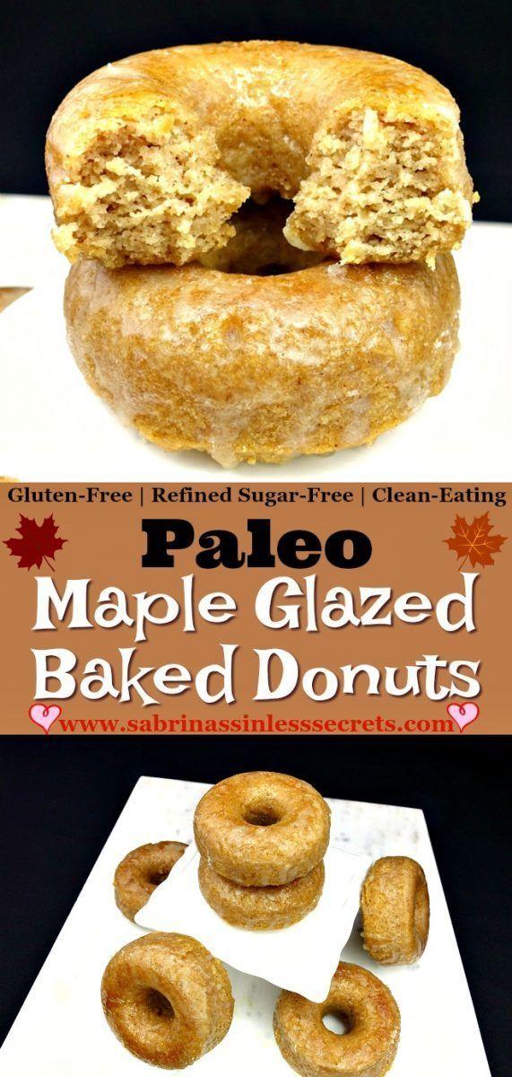 Paleo Maple Glazed Baked Donuts Recipe Healthy Donuts Paleo