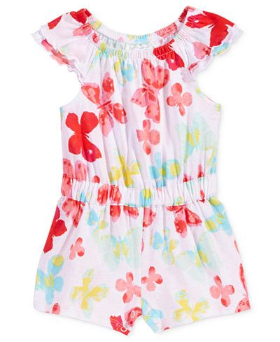 First Impressions Butterfly-Print Romper, Baby Girls (0-24 months), Only at Macy's
