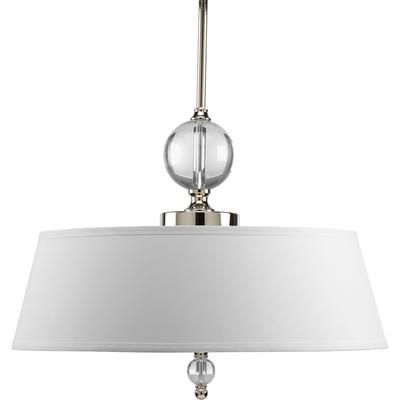 Dining lighting idea  Progress Lighting - Fortune Collection Polished Nickel 3-light Pendant - 785247168798 - Home Depot Canada