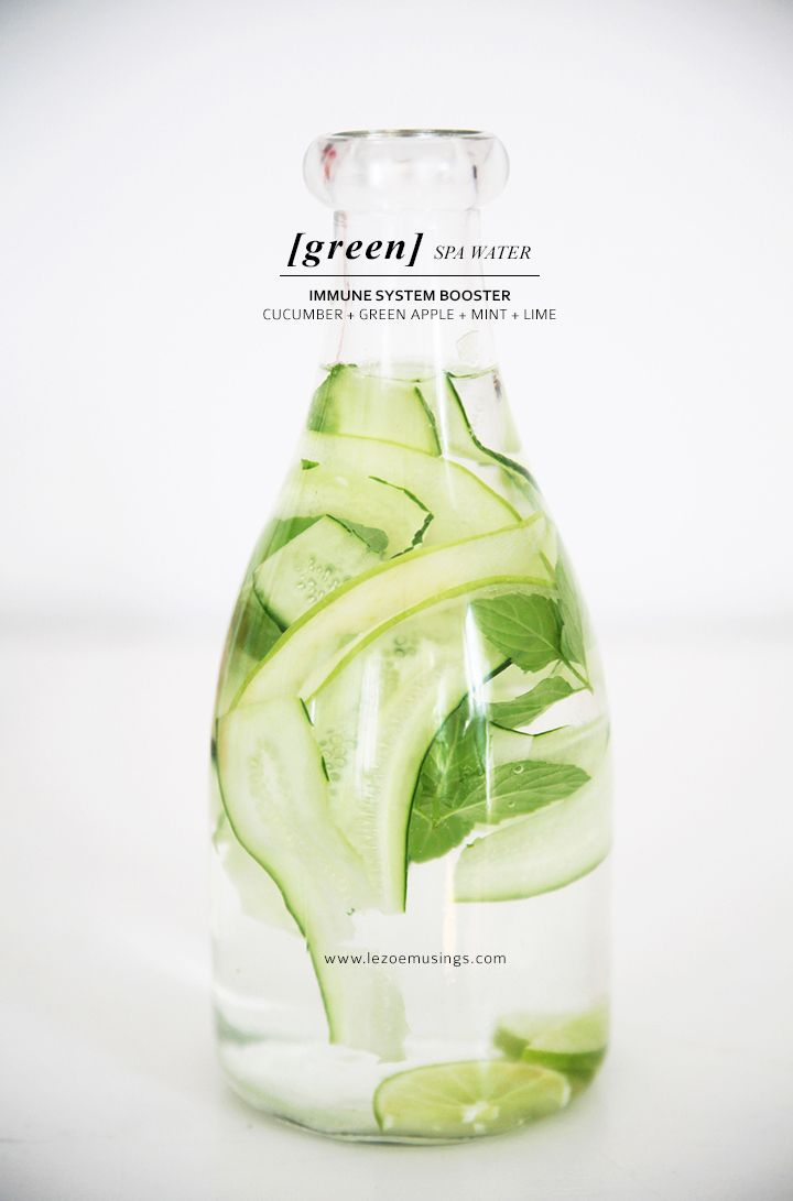 Up you H2O: cucumber green apple mint lime infused water