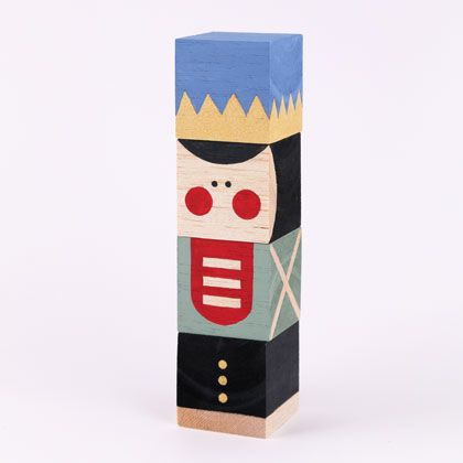 Nutcracker Stacking Blocks - simple handmade toy for babies 12mts+ | MollyMoo for @Spoonful