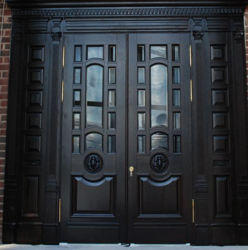 Black Double Doors Outside : Images about exterior doors on pinterest double