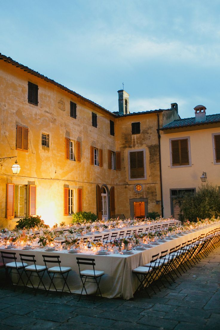 Long tables in Tuscany.  Venue – Fattoria Casamora. | photography by http://www.cinziabruschini.it