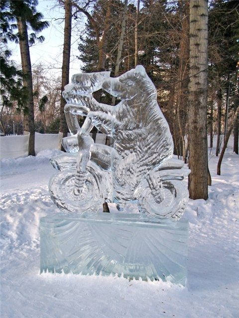 Ice motorcycle, Tomsk