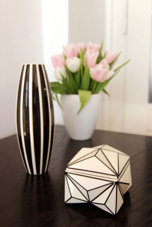 Desired and Coveted Cubist ceramics designed by Pavel Janák (vase 214 O and crystal box)