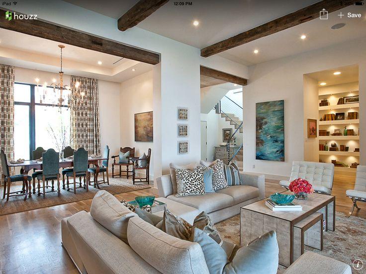 dekosteine wand wohnzimmer gestalten akzentwand pflanze - wohnzimmer mit offener küche gestalten