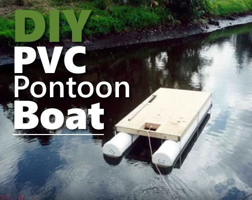 DIY PVC Pontoon Boat - takes 1 day to build this... #diy #homestead #homesteading