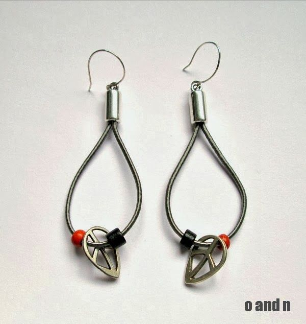 o & n craft supplies: Silk cord earrings