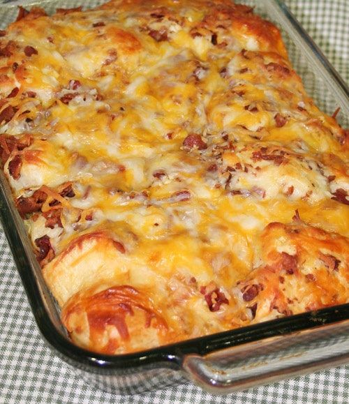bacon-cheese pull aparts  just made this with no mushrooms. so yummyPulled Apartments Breads, Recipe, Cheese Bread, Bacon Cheese Pulled Apartments, Food, Breakfast, Baconch Pullapart, Bacon Chees Pulled, Bacon Egg