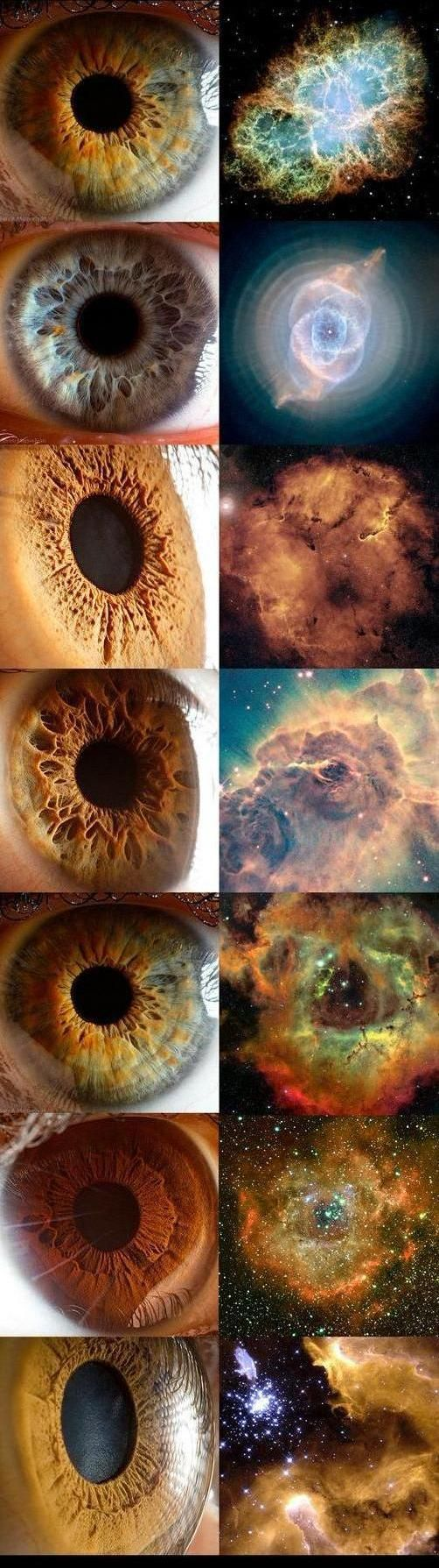 Eyes and nebulas ..wow :)