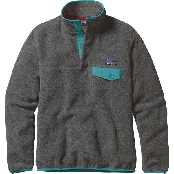 Patagonia Synchilla Lightweight Snap-T Fleece Pullover ($99) ❤ liked on Polyvore featuring patagonia