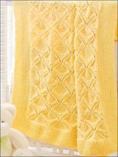 Padrões de manta de bebê tricô grátis | Free Knitting Patternlogan Blanket Bl ...