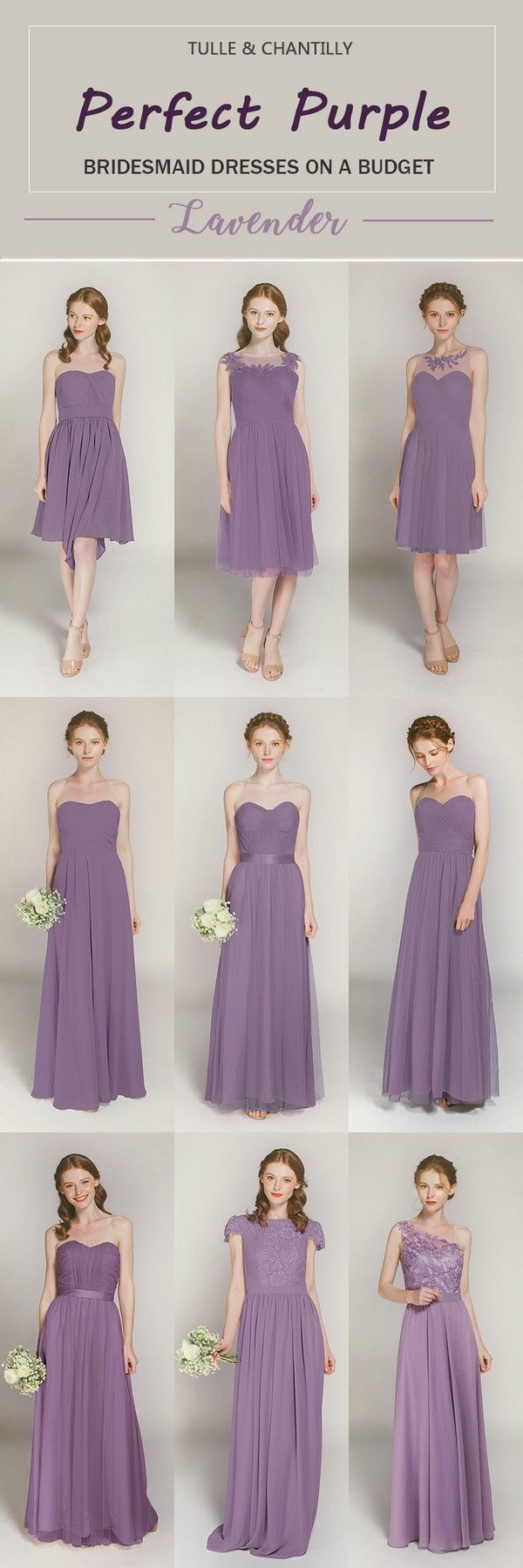 32 best purple bridesmaid dresses images on pinterest party lavender long short bridesmaid dresses from 89 in size 2 30 and 100 color ombrellifo Choice Image