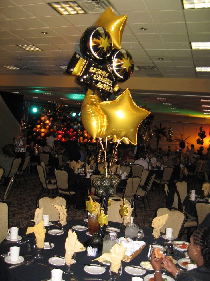 Hollywood oscar party centerpiece oscar night party for Oscar decorations