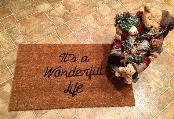 It's a Wonderful Life Door Mat Custom Door by ToniAnnsBellaArte