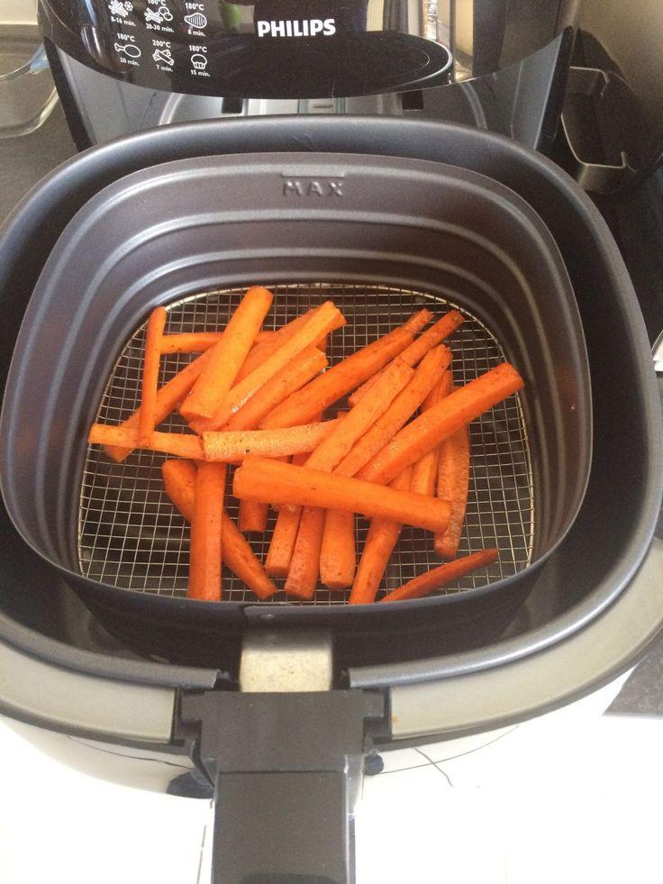 Gezonde wortelfrietjes in de Airfryer - Mooi Verouderen