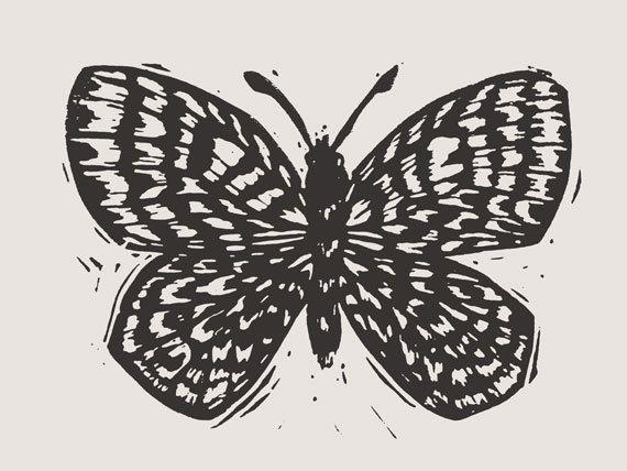 Butterfly Art Print & Envelope by FemiFord on Etsy, $5.50