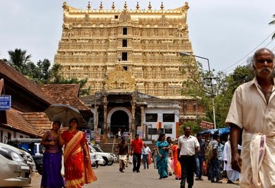 Padmanabhaswamy Temple, Trivandrum, Kerala, India - not open to non-Hindus unfortunately but the temple and its surroundings can be explored by anyone.