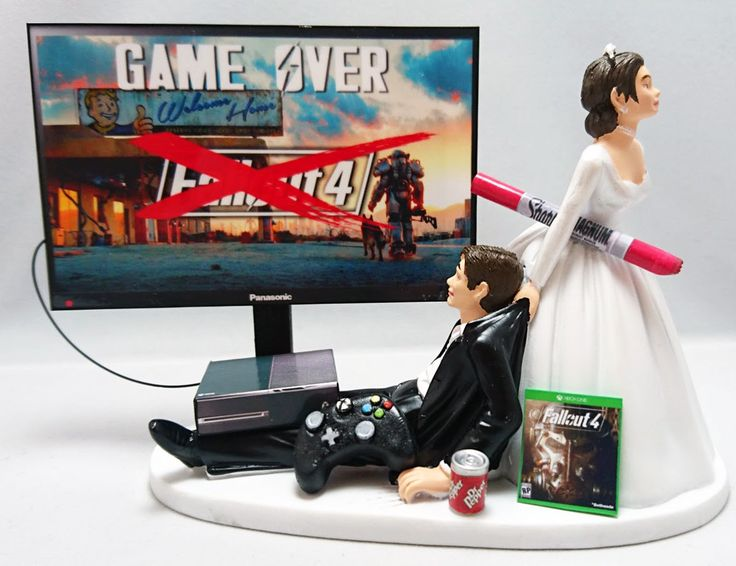 Wedding Cake Toppe Bride and Groom Xbox One/PS4/PC by TopShelfToppers on Etsy