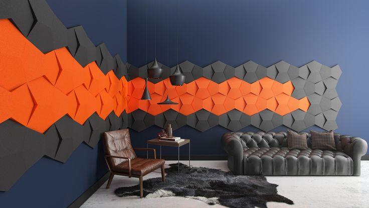 Miękkie panele ścienne 3D Fluffo, Fabryka Miękkich Ścian. Kolekcja Fluffo CHAIN. www.fluffo.pl