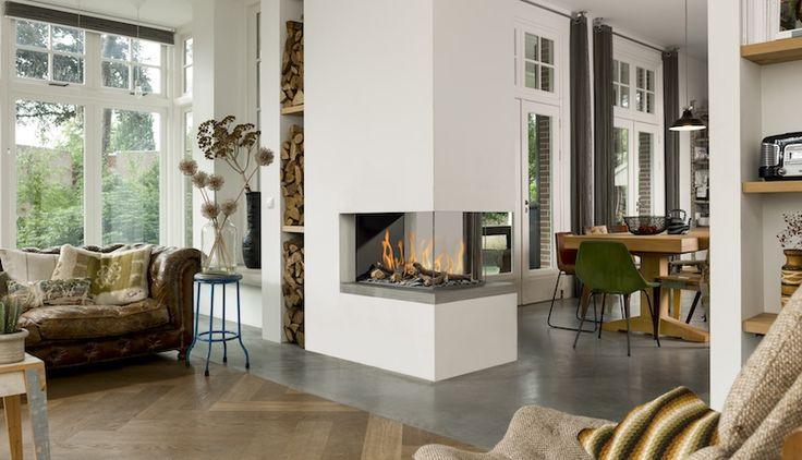 Room Divider Medium 3. Deze gashaard van Bellfires is een markante blikvanger in elk interieur.