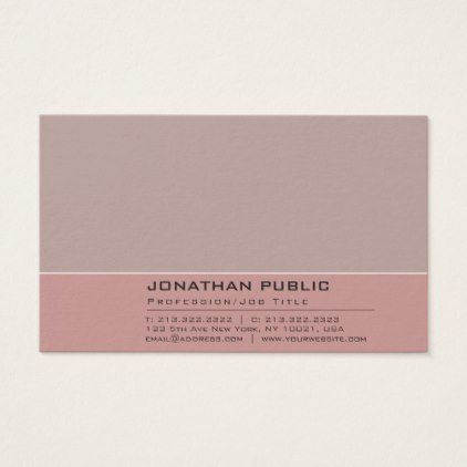 Elegant Vintage Color Harmony Professional Plain Business Card - fitness businesscards personal trainer instructor business cards card
