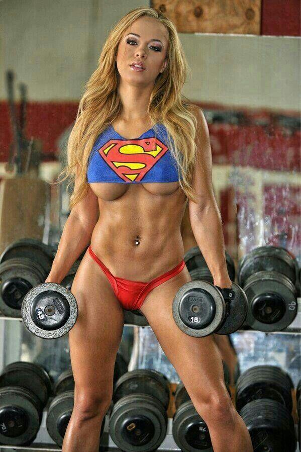 Sexy Woman Gym Nude 96