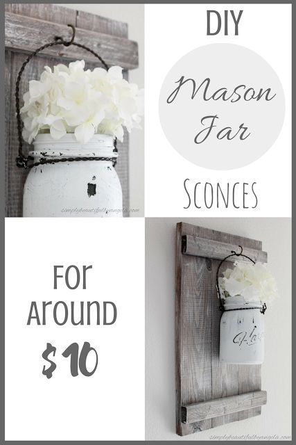 best 10 mason jar sconce ideas on pinterest mason jar bathroom mason jar kitchen decor and. Black Bedroom Furniture Sets. Home Design Ideas