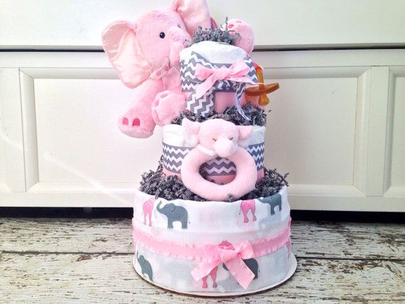 229 best baby diaper elephants images on pinterest elephant elephant theme diaper cake for girls on etsy 9900 negle Images