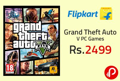 Flipkart is offering Grand Theft Auto V PC Games at Rs.2499. Grand Theft Auto V is the latest game in the GTA series that takes you on an action-packed adventure across the fictional city of Los Santos. Developed by Rockstar north and published by Rockstar Games, GTA V is the successor to Grand Theft Auto IV which released in 2008.  http://www.paisebachaoindia.com/grand-theft-auto-v-pc-games-at-rs-2499-flipkart/