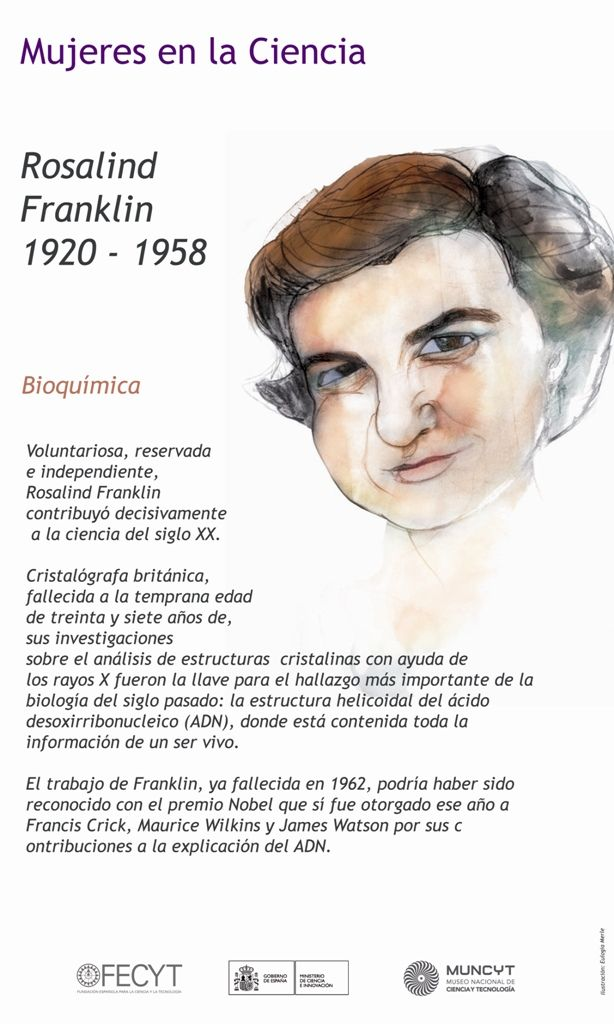 Mujeres en la Ciencia: Rosalind Franklin, bioquímica, 1920-1958