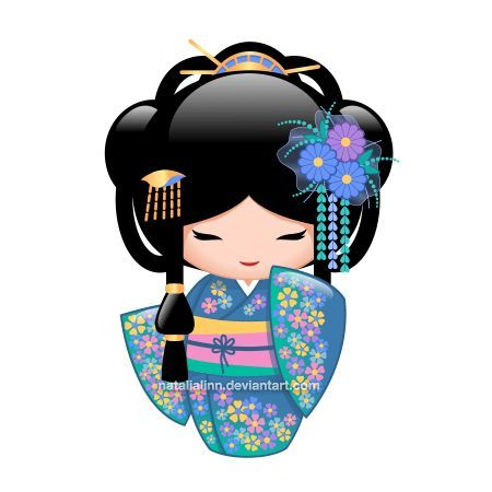 Resultat d'imatges de muñeca tela aplicacion kokeshi