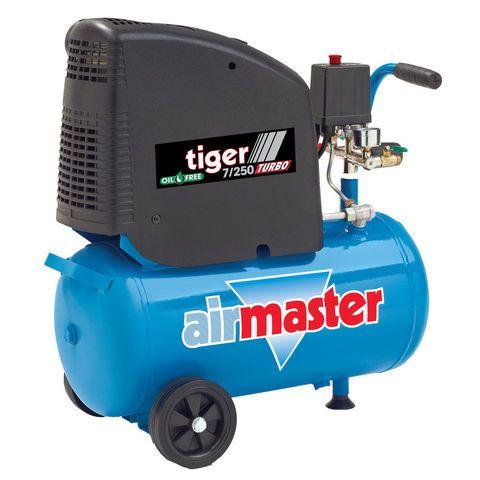 Airmaster Tiger 7/250 2hp 24 Litre Oil Free Air Compressor - Machine Mart - Machine Mart