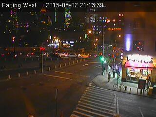 Webcam Rue Canal @ Rue Chrystie - Caméra de circulation pointant sur les rues...
