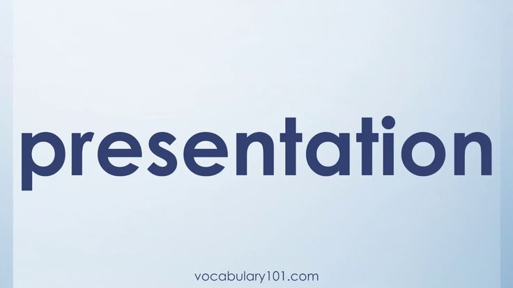 presentation Meaning and Example Sentence | Learn English Vocabulary Word with Definition