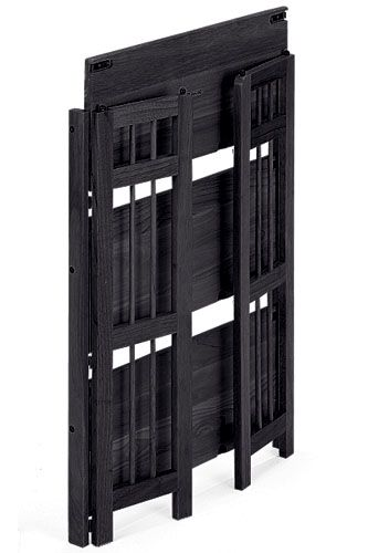 Folding, stackable bookcases! Nicer than metal shelving using now but still easier to move than traditional shelving-and I need lots of them.