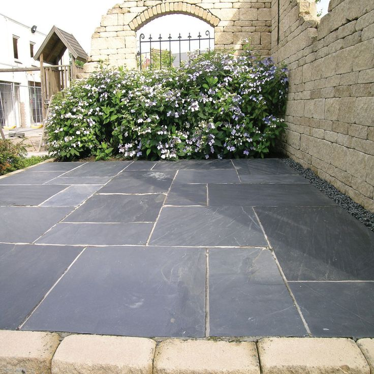 Gray Patio Stone   Google Search | Gardens U0026 Patios | Pinterest | Paving  Slabs, Slate And Patios