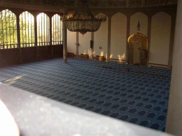 Bespoke carpet installation for Regents Park Mosque