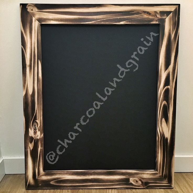 Knotty Pine Picture Frame Natural Charcoal finish