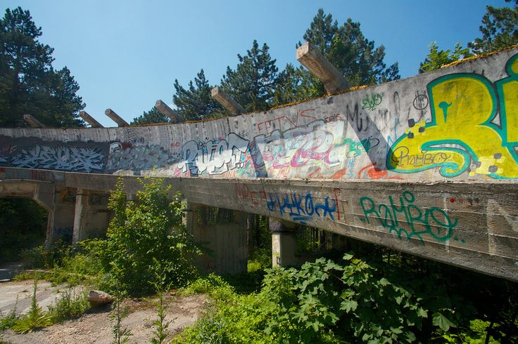 There's little to suggest this was once an Olympics venue. | 19 Haunting Pictures Of The Abandoned 1984 Winter Olympics Venues