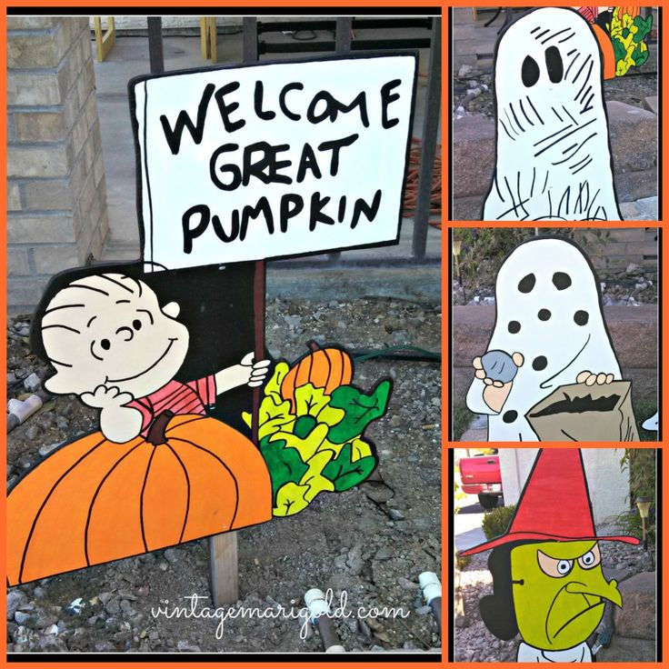 Charlie Brown Halloween Yard Art