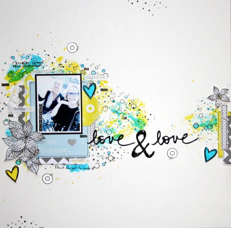Page pleine de pep's Freestyle pour Graffiti'Girl jaune et bleu collection coup de soleil ,