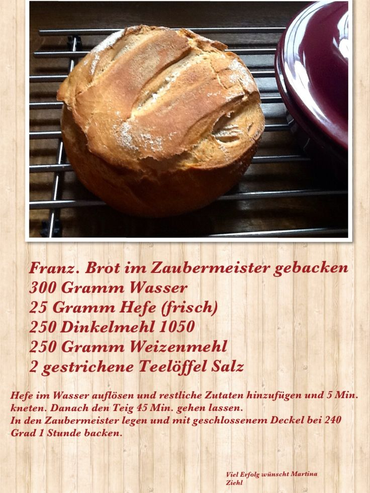Brot selber backen.....